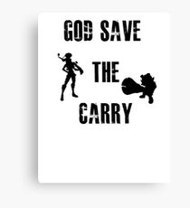 God save the carry Canvas Print