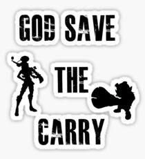 God save the carry Sticker