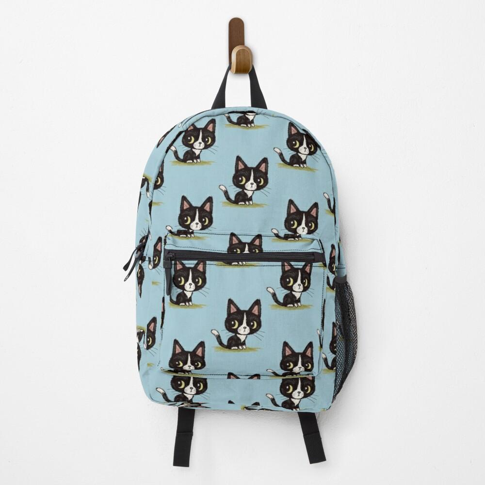 Cute black kitten Backpack