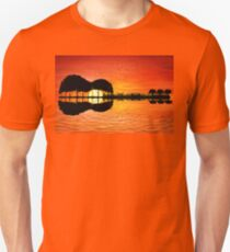 guitar island sunset T-Shirt
