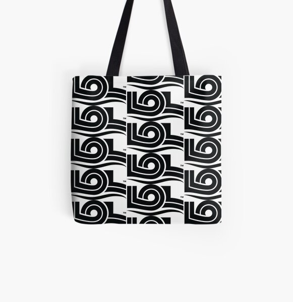 Living Over Labels™ LOL Logo / Disable Ableism and Stigmas / Black All Over Print Tote Bag