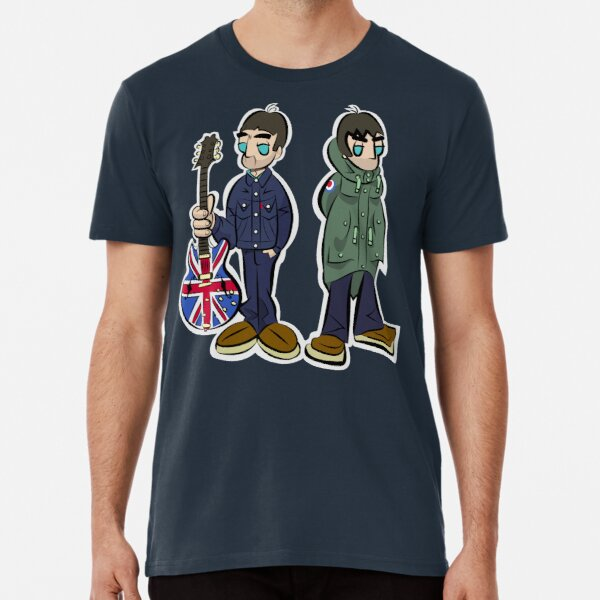 The Brothers Gallagher - (LGv1 x NGv1 - Cartoon styled) Premium T-Shirt