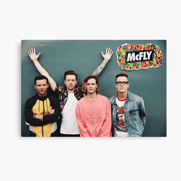 mcfly 2020 picture poster young dumb thrills new logo Canvas Print