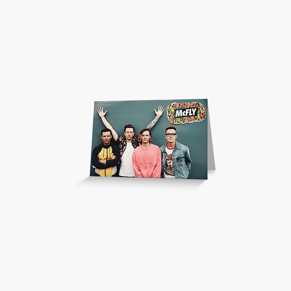 mcfly 2020 picture poster young dumb thrills new logo Greeting Card
