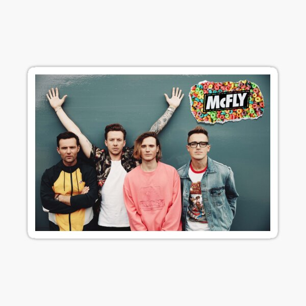 mcfly 2020 picture poster young dumb thrills new logo Sticker