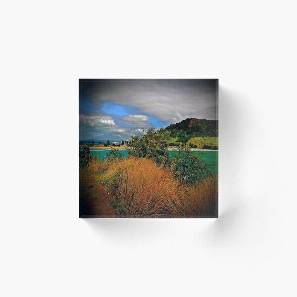Mount Maunganui Acrylic Block