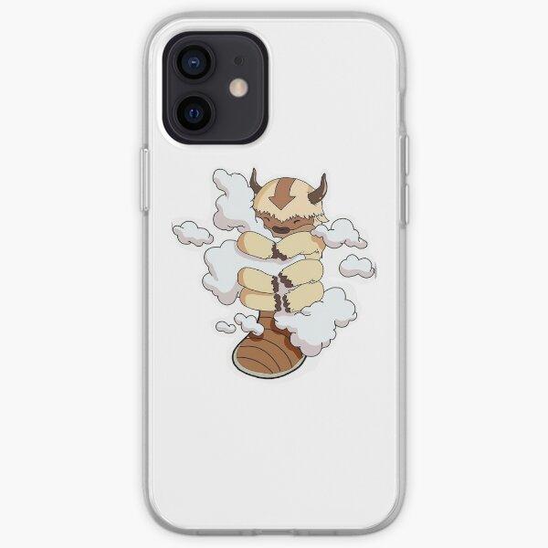 Appa en las nubes pegatina y diseño Funda blanda para iPhone