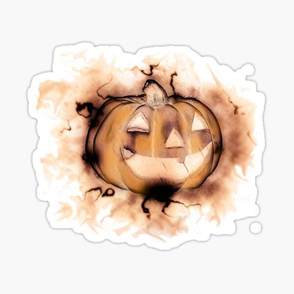 Autumn Jack-o-Lantern Sticker