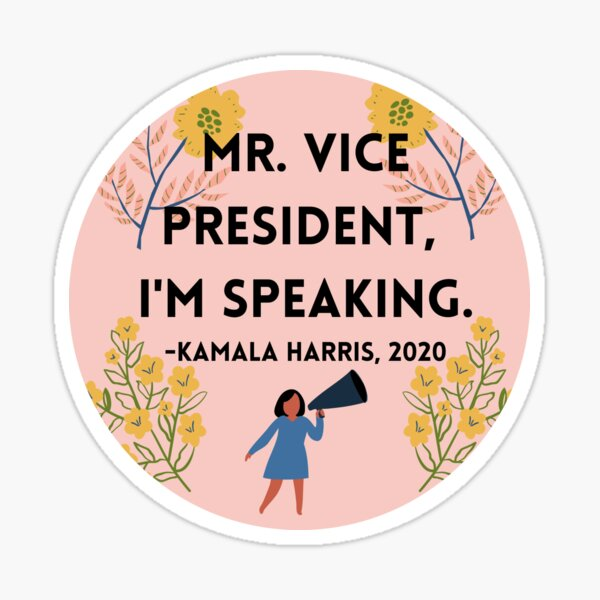 i'm speaking. Sticker