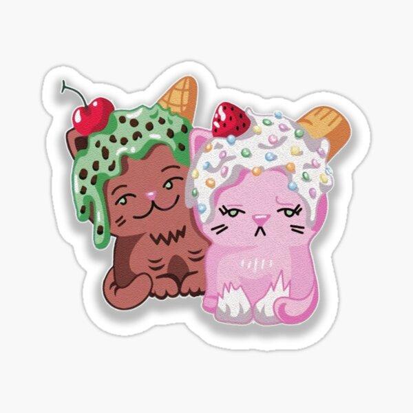 Moriah elizabeth cute ice cream cats Sticker