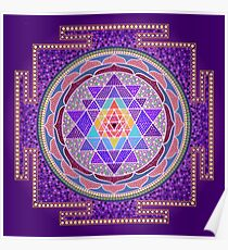 Sri Yantra Purple Poster