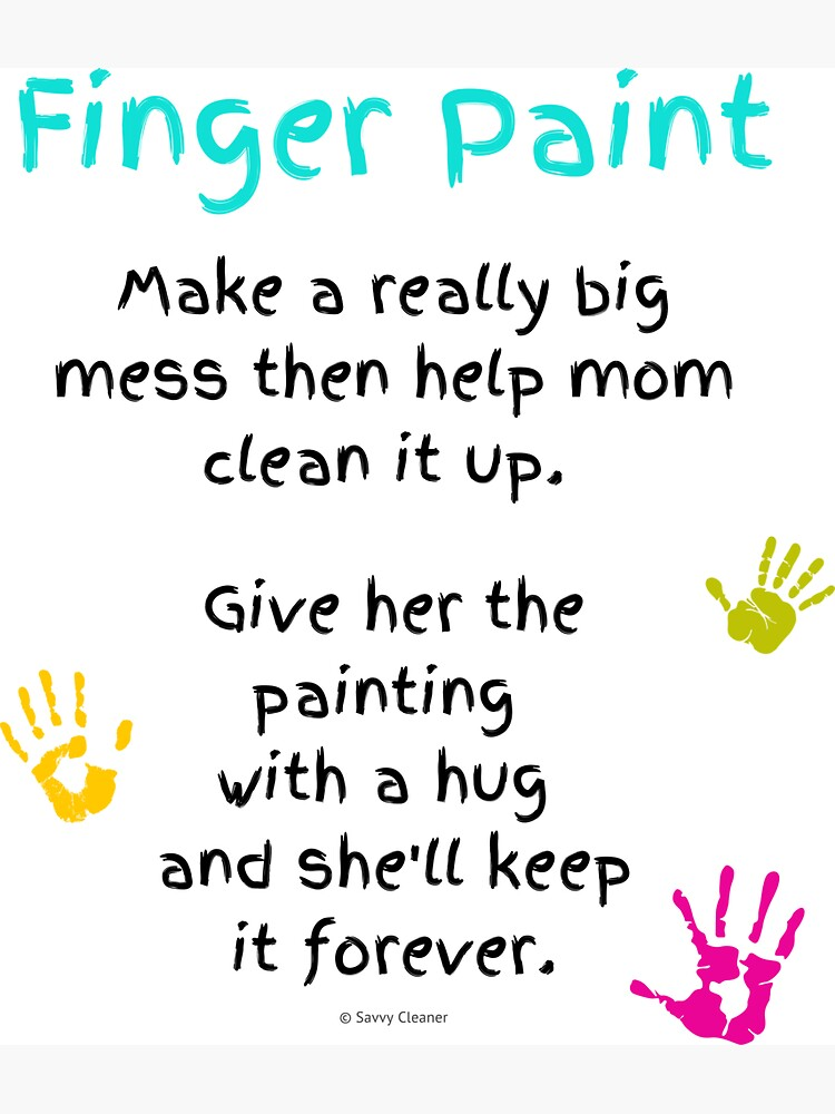 Finger Paint, Big Helper for Busy Mom Inspiration by SavvyCleaner