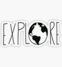 Explore the Globe Transparent Sticker