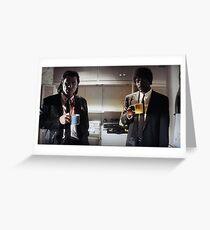 pulp fiction - coffee mugs Greeting Card
