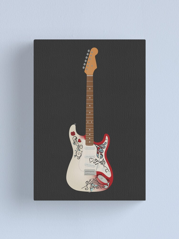 Alternate view of Monterey Iconic guitar Canvas Print