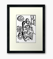 Girl Playing a Lute Framed Print