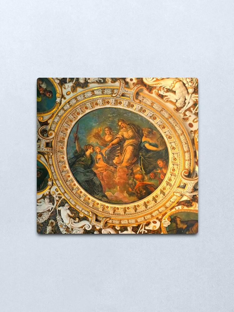 Alternate view of Vatican Ceiling Mural-Goddesses & Children Metal Print