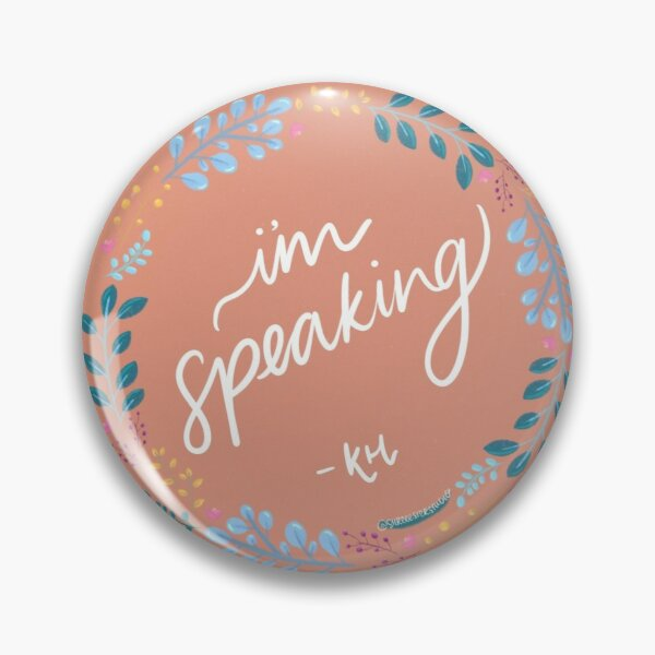 Joe Biden x Kamala Harris Election Debate I'm Speaking Sticker Pin