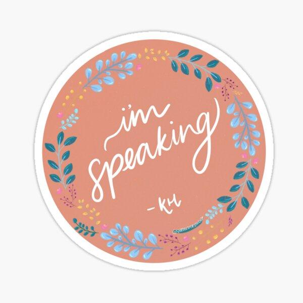 Joe Biden x Kamala Harris Election Debate I'm Speaking Sticker Sticker