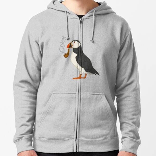 Puffin Zipped Hoodie
