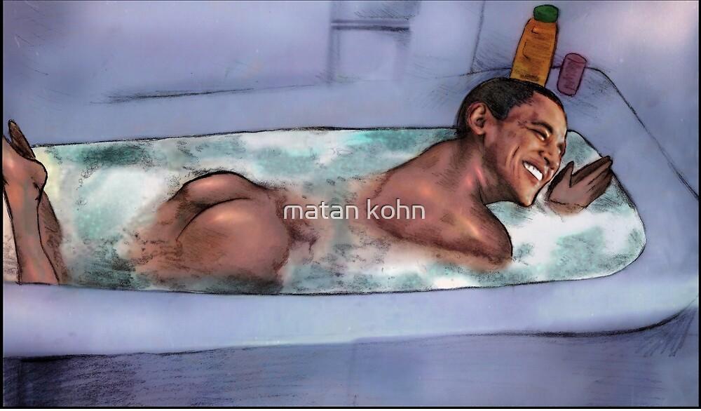 Barack Obama takes a shower by matan kohn