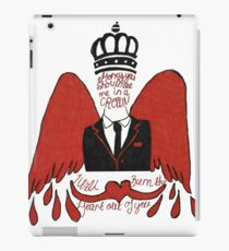 moriarty you should see me in a crown iPad Case/Skin