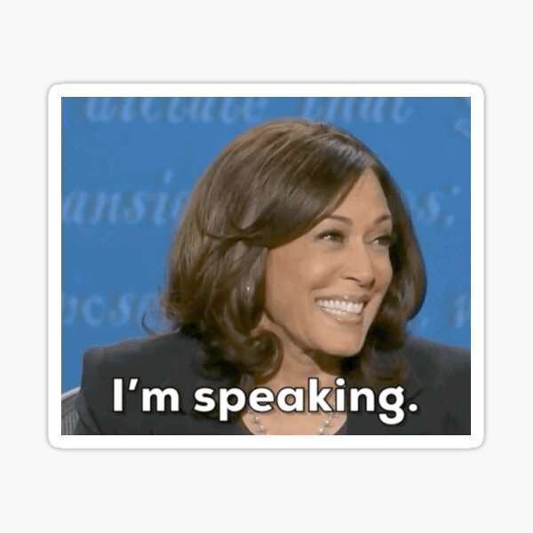 kamala harris debate i'm speaking Sticker
