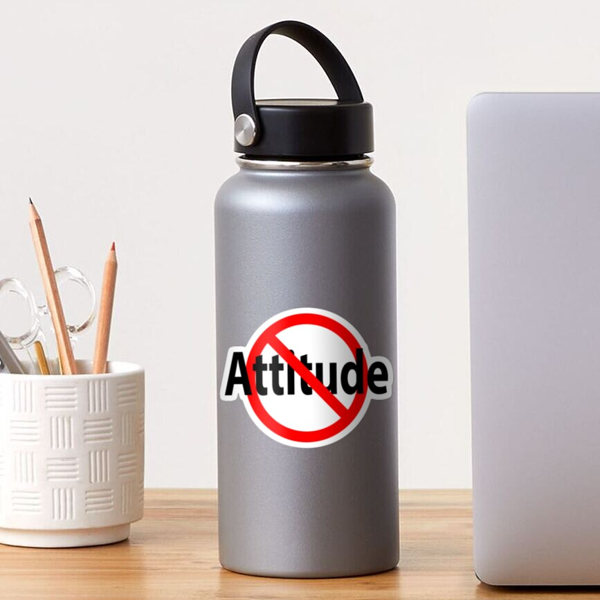 No Attitude - Open Mind Sticker