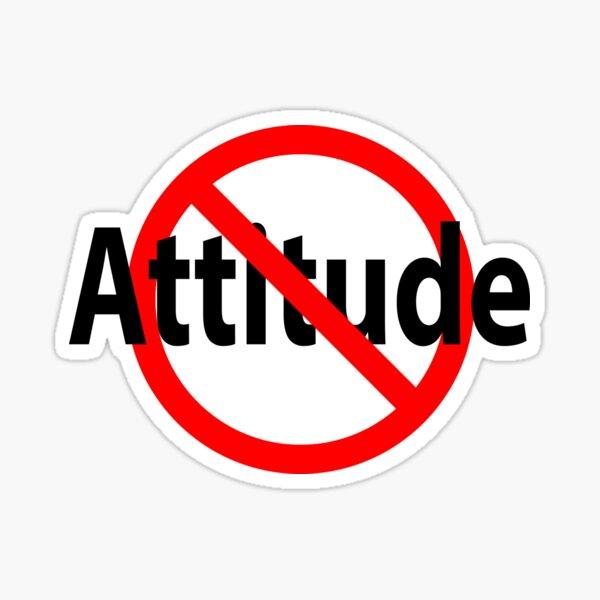 No Attitude - Open Mind Sticker
