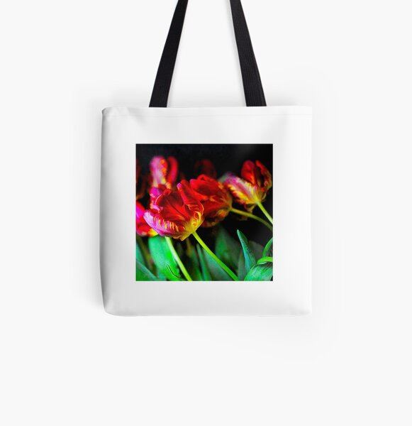Tulips All Over Print Tote Bag