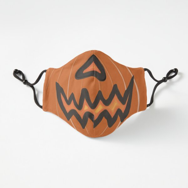 Pumpkin Face Fitted 3-Layer