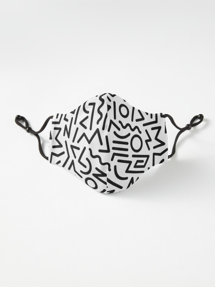 Alternate view of Memphis Pattern Black and White Mask