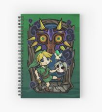 Majora's Mask in Wind Waker Style Spiral Notebook