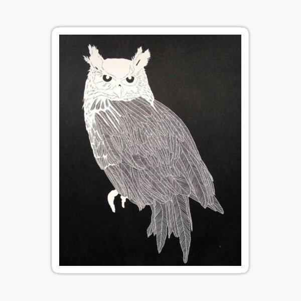 After The Unique Owl Gaze Sticker