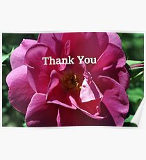 Rose Thank You Card Poster