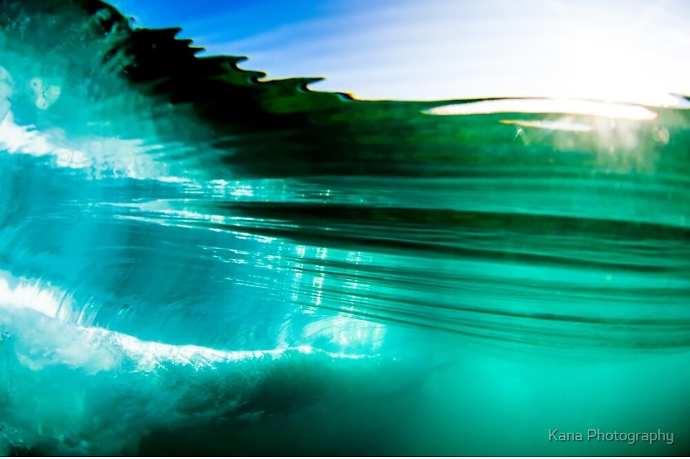 Underwater Wave by Kana Photography