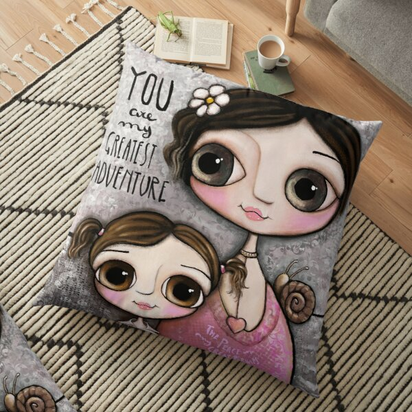 Mother and daughter Floor Pillow
