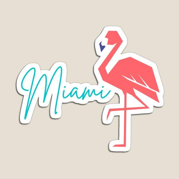 Miami Flamingo Blue Magnet