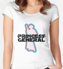 """Princess—General, Sorry."" Women's Fitted Scoop T-Shirt"