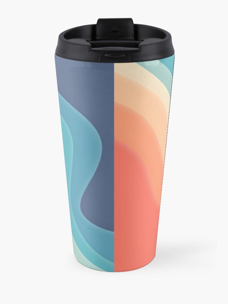 Alternate view of Retro color wave Travel Mug