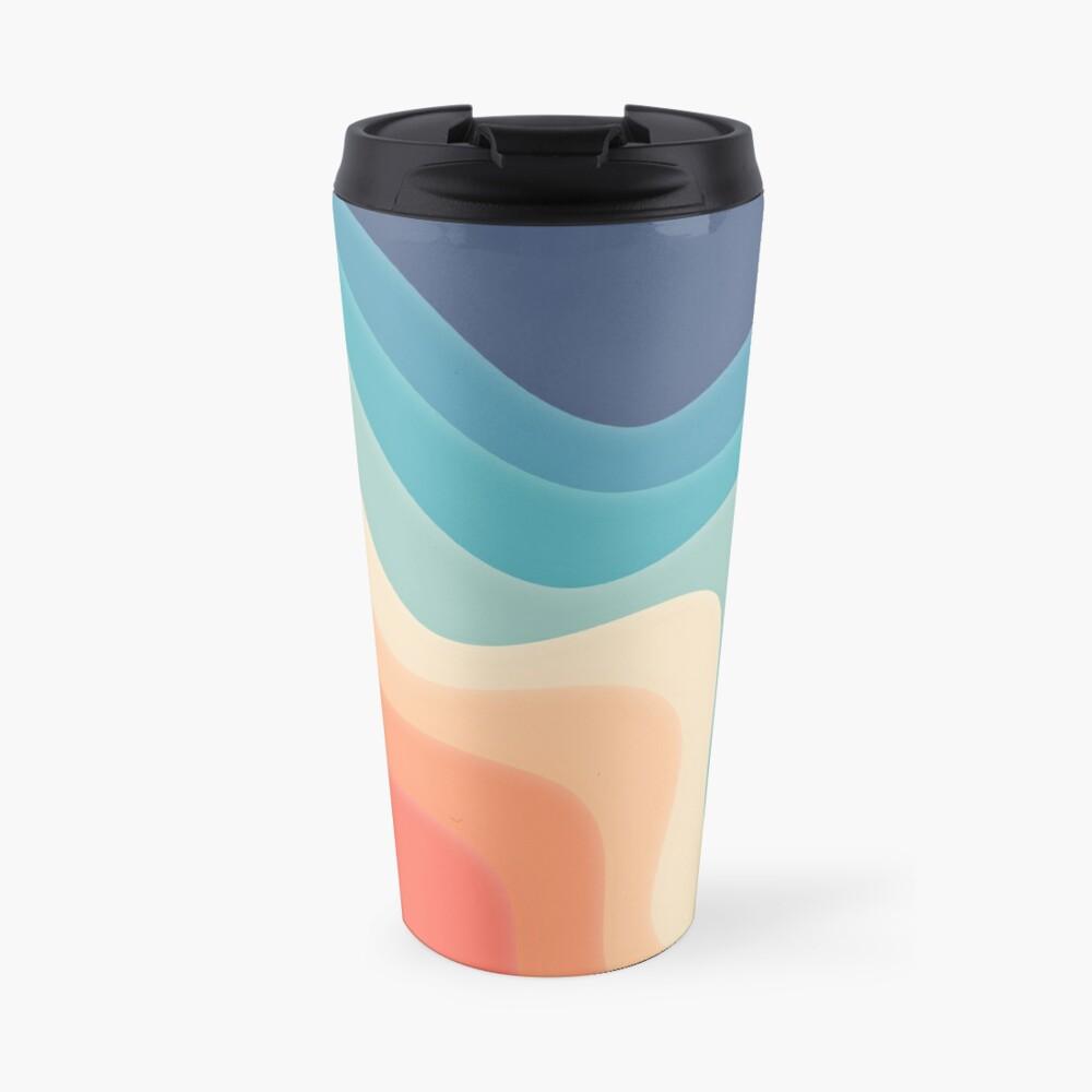Retro color wave Travel Mug
