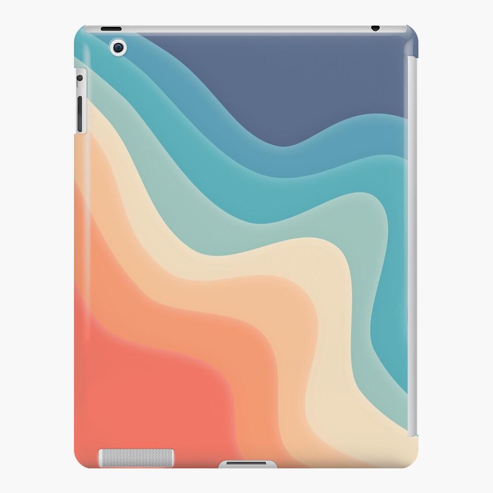 Retro color wave iPad Case & Skin