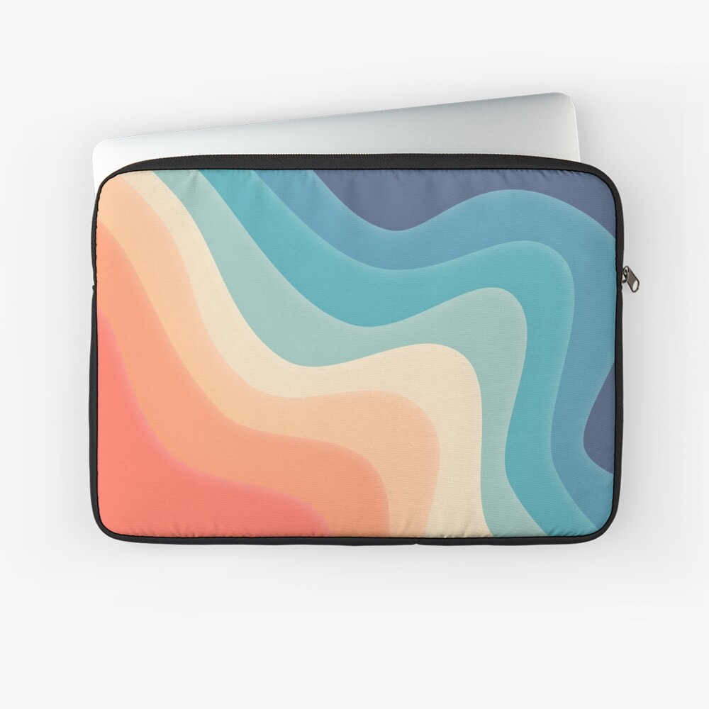 Retro color wave Laptop Sleeve