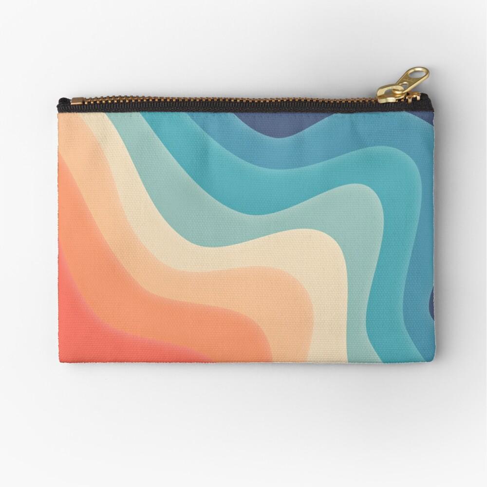 Retro color wave Zipper Pouch