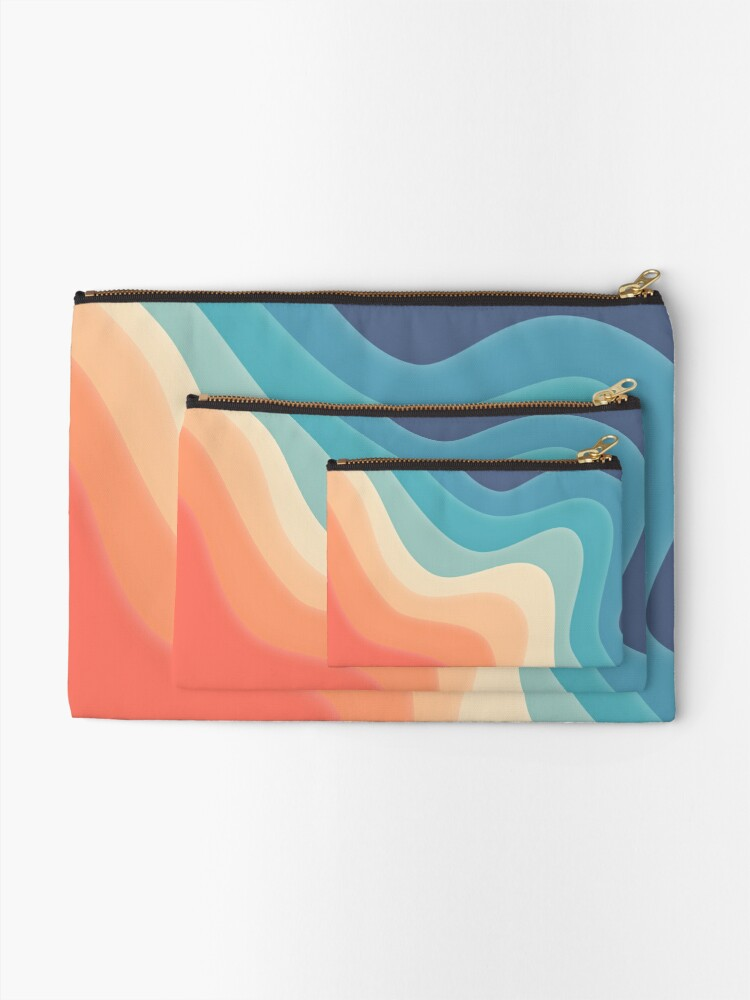 Alternate view of Retro color wave Zipper Pouch