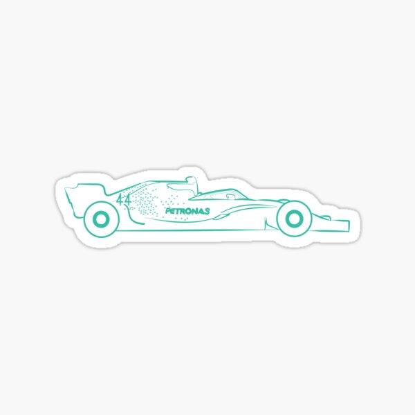 Masque Mercedes Amg Petronas Sticker
