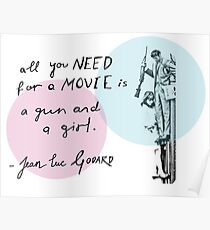 A Gun and a Girl - Jean-Luc Godard Poster
