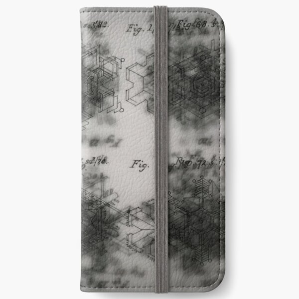 Scoresby's snowflakes iPhone Wallet