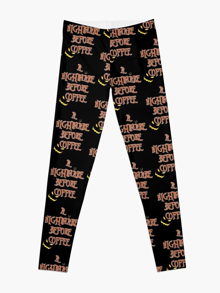 Nightmare Before Christmas Fonts.Nightmare Before Christmas Font Coffee Leggings