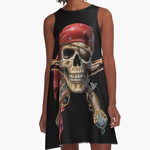 Skull Muskets A-Line Dress